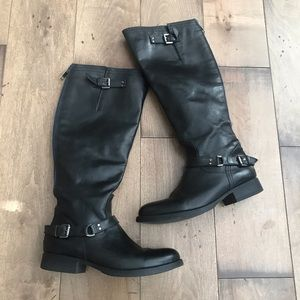 Steve Madden Rex Leather Knee High Riding Boots 7